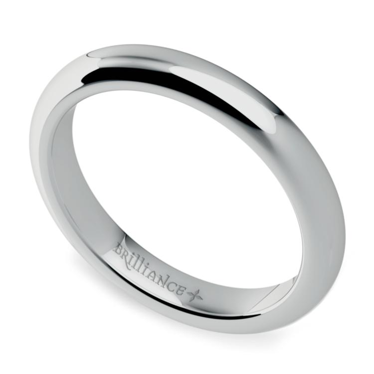 Comfort Fit Men's Wedding Ring in Platinum (3mm) | 01