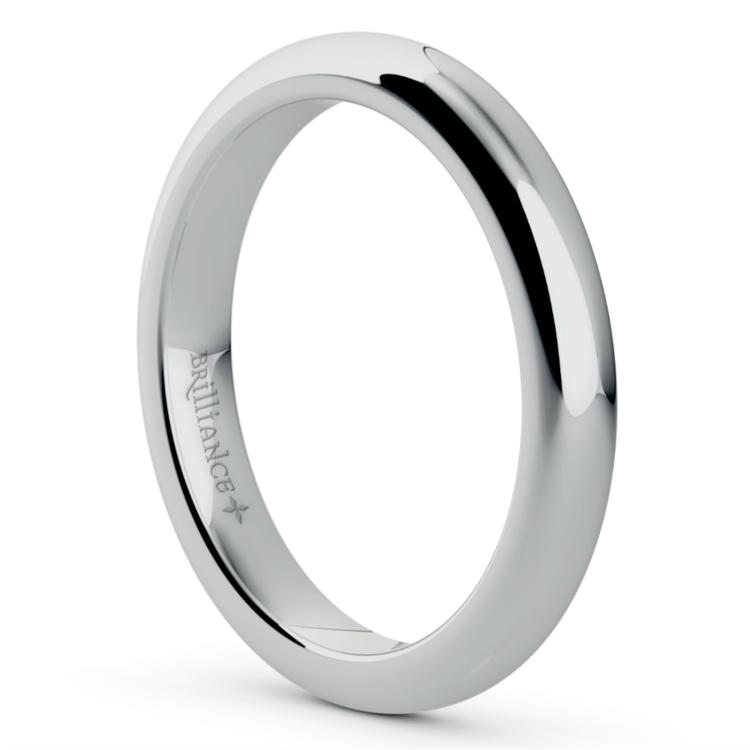 Comfort Fit Men's Wedding Ring in Platinum (3mm) | 02