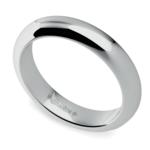 Comfort Fit Men's Wedding Ring in Platinum (4mm) | Thumbnail 01