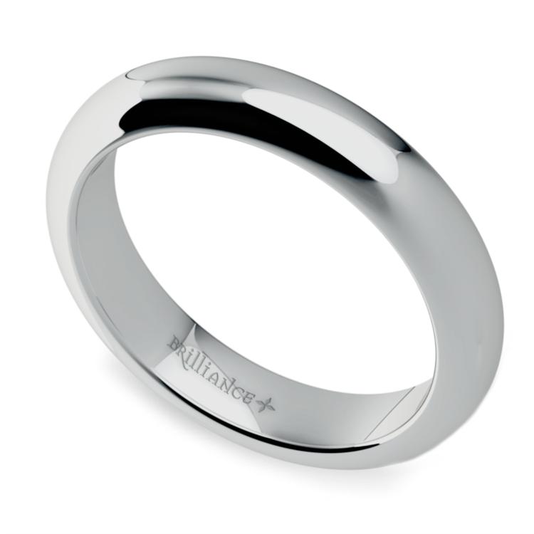Comfort Fit Men's Wedding Ring in Platinum (4mm) | 01