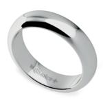 Comfort Fit Men's Wedding Ring in Platinum (5mm) | Thumbnail 01