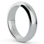 Comfort Fit Men's Wedding Ring in Platinum (5mm) | Thumbnail 02
