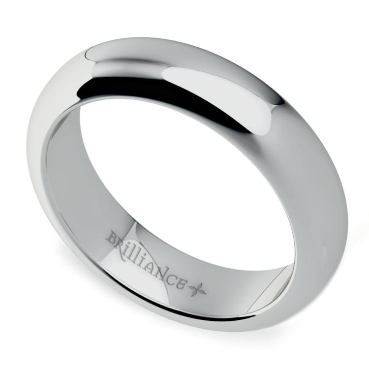Comfort Fit Men's Wedding Ring in Platinum (5mm) | 01
