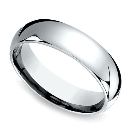 comfort fit mens wedding ring in platinum 6mm - Mens Platinum Wedding Ring