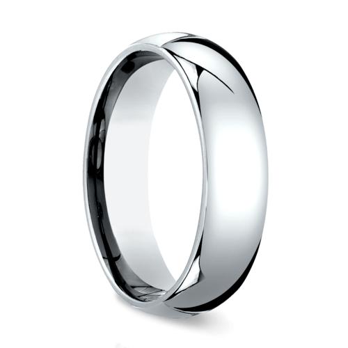 comfort fit mens wedding ring in platinum 6mm - Platinum Mens Wedding Rings