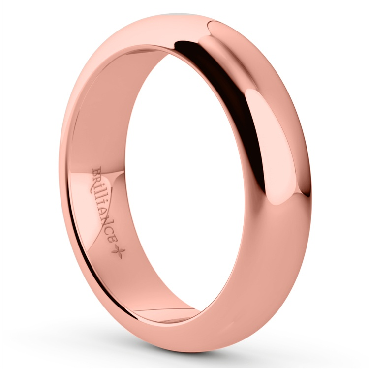Comfort Fit Men's Wedding Ring in Rose Gold (5mm) | 02