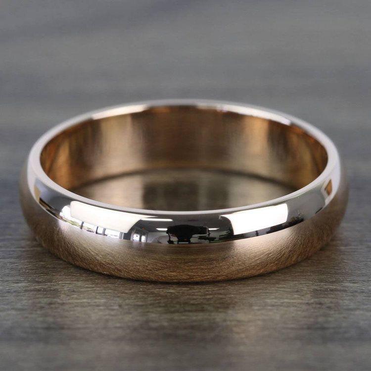 Comfort Fit Men's Wedding Ring in Rose Gold (5mm) | 03