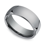 Comfort Fit Men's Wedding Ring in Tungsten (7mm) | Thumbnail 01