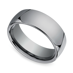 Comfort Fit Men's Wedding Ring in Tungsten (7mm)