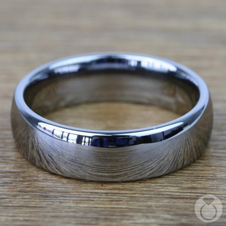 Comfort Fit Men's Wedding Ring in Tungsten (7mm) | 03