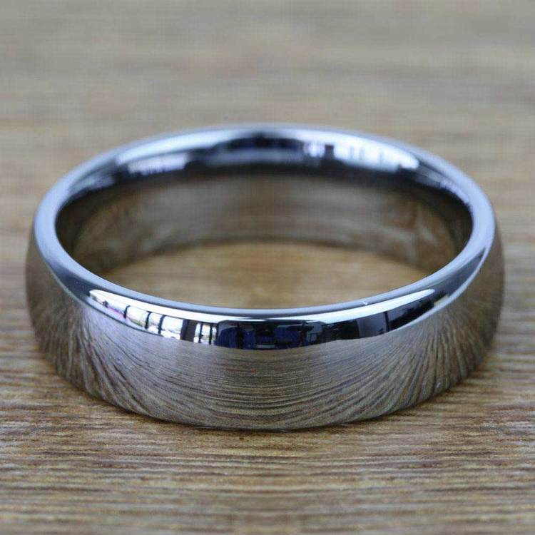 Comfort Fit Men's Wedding Ring in Tungsten (7mm) | 03