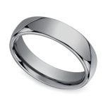The Classic - Comfort Fit 6mm Tungsten Mens Band | Thumbnail 01