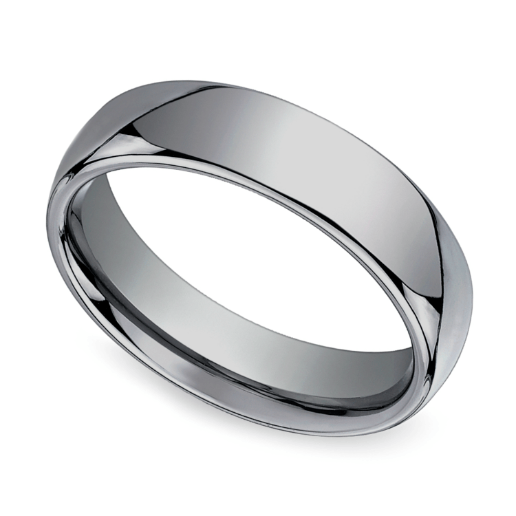 The Classic - Comfort Fit 6mm Tungsten Mens Band | 01