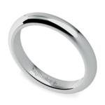 Comfort Fit Men's Wedding Ring in White Gold (3mm) | Thumbnail 01