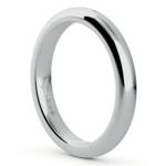 Comfort Fit Men's Wedding Ring in White Gold (3mm) | Thumbnail 02