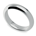 Comfort Fit Men's Wedding Ring in White Gold (4mm)  | Thumbnail 01
