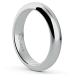 Comfort Fit Men's Wedding Ring in White Gold (4mm)  | Thumbnail 02