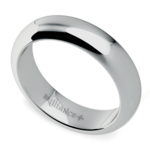 Comfort Fit Men's Wedding Ring in White Gold (5mm) | Thumbnail 01