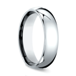 Comfort Fit Men's Wedding Ring in White Gold (6mm) | Thumbnail 02