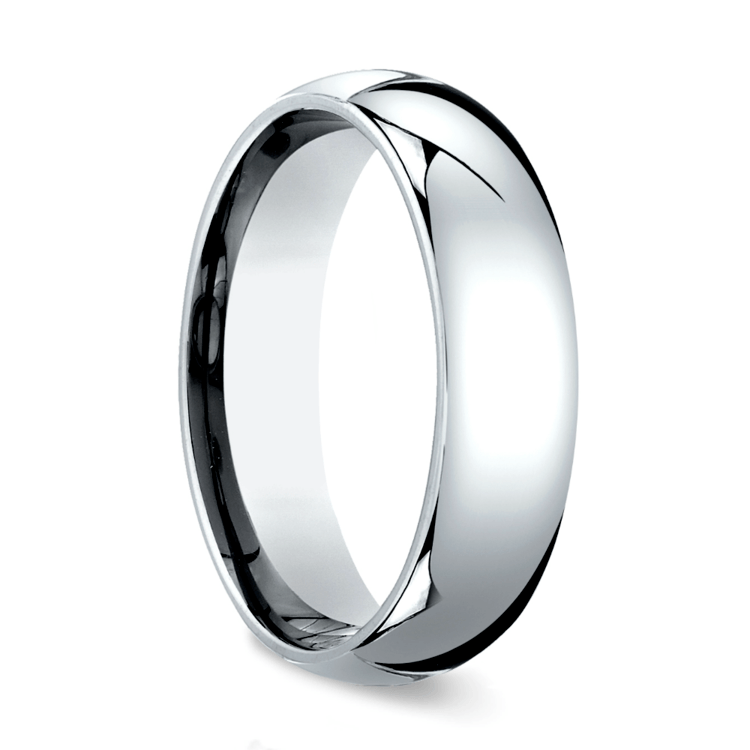 Comfort Fit Men's Wedding Ring in White Gold (6mm) | 02