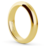 Comfort Fit Men's Wedding Ring in Yellow Gold (4mm)  | Thumbnail 02