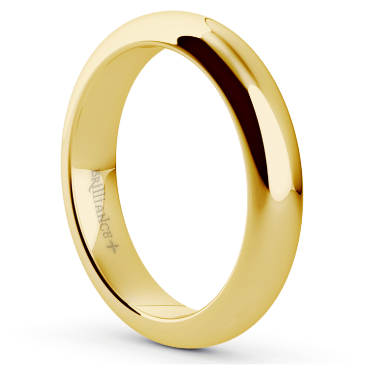 Comfort Fit Men's Wedding Ring in Yellow Gold (4mm)  | 02