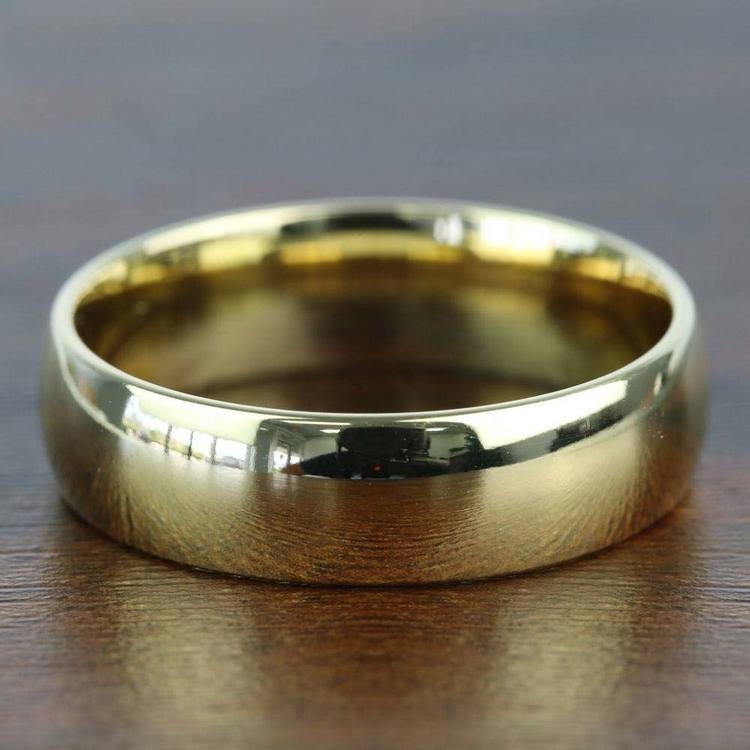 Comfort Fit Men's Wedding Ring in Yellow Gold (6mm) | 03