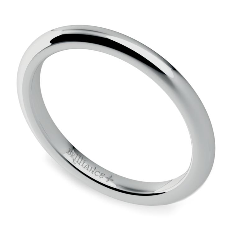 Comfort Fit Wedding Ring in Palladium (2mm) | 01