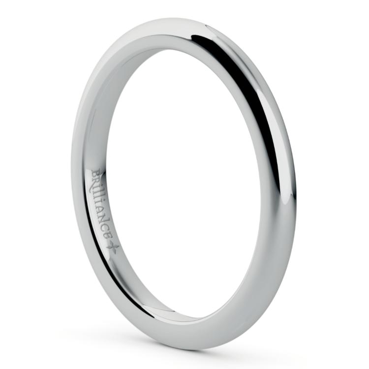 Comfort Fit Wedding Ring in Palladium (2mm) | 02