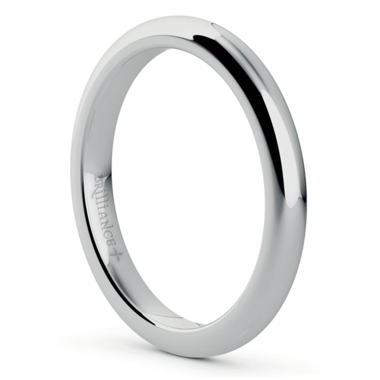 Comfort Fit Wedding Ring in Palladium (2.5mm) | 02