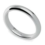 Comfort Fit Wedding Ring in Palladium (3mm) | Thumbnail 01