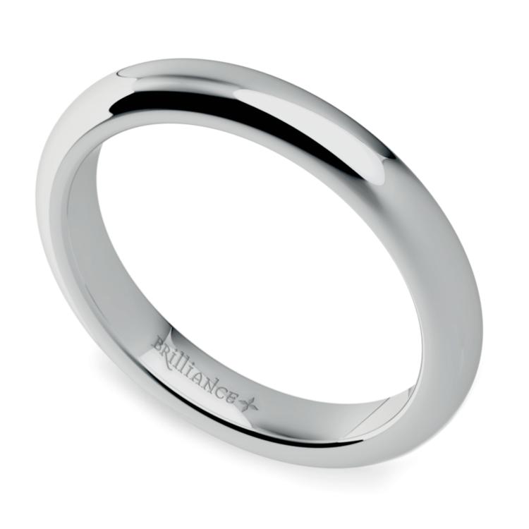 Comfort Fit Wedding Ring in Palladium (3mm) | 01