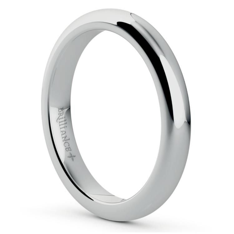 Comfort Fit Wedding Ring in Palladium (3mm) | 02