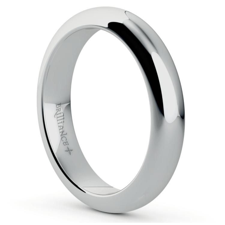 Platinum 4mm Wedding Band: Comfort Fit Wedding Ring In Platinum (4mm