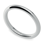 Comfort Fit Wedding Ring in White Gold (2mm) | Thumbnail 01