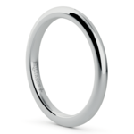 Comfort Fit Wedding Ring in White Gold (2mm) | Thumbnail 02