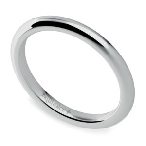 Comfort Fit Wedding Ring in White Gold (2mm)