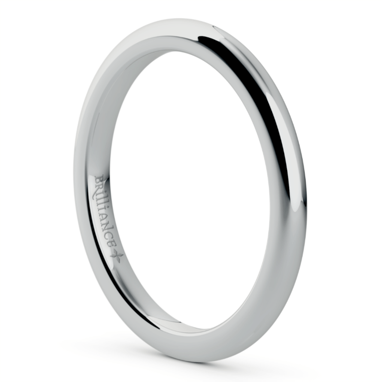 Comfort Fit Wedding Ring in White Gold (2mm) | 02