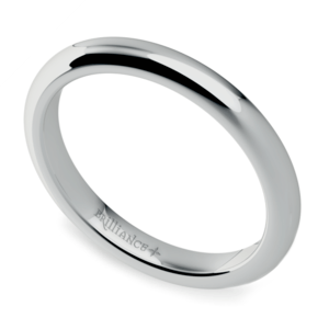 Comfort Fit Wedding Ring in White Gold (2.5mm)
