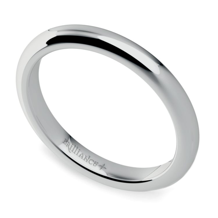 Comfort Fit Wedding Ring in White Gold (2.5mm) | 01