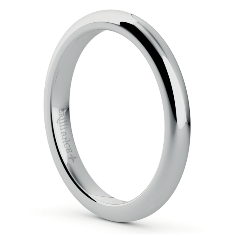 Comfort Fit Wedding Ring in White Gold (2.5mm) | 02
