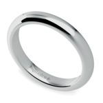 Comfort Fit Wedding Ring in White Gold (3mm) | Thumbnail 01