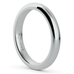 Comfort Fit Wedding Ring in White Gold (3mm) | Thumbnail 02