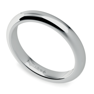 Comfort Fit Wedding Ring in White Gold (3mm)