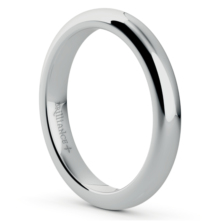 Comfort Fit Wedding Ring in White Gold (3mm) | 02
