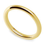 Comfort Fit Wedding Ring in Yellow Gold (2mm) | Thumbnail 01