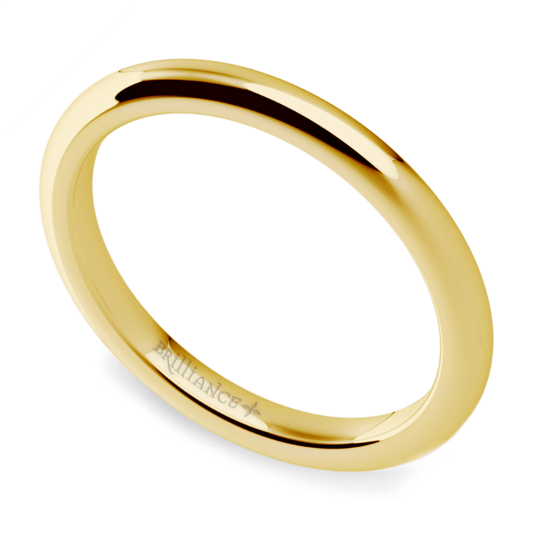 Comfort Fit Wedding Ring in Yellow Gold (2mm) | 01