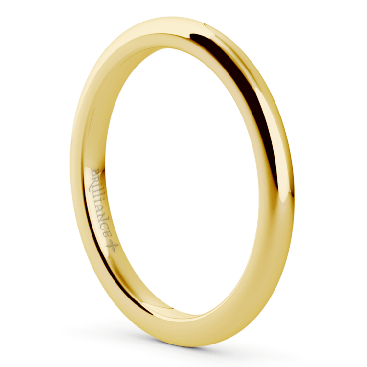 Comfort Fit Wedding Ring in Yellow Gold (2mm) | 02