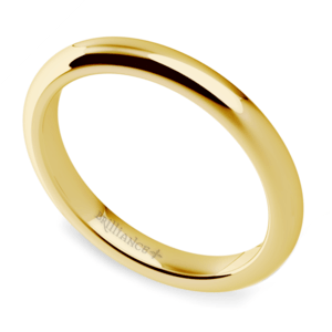 Comfort Fit Wedding Ring in Yellow Gold (2.5mm)
