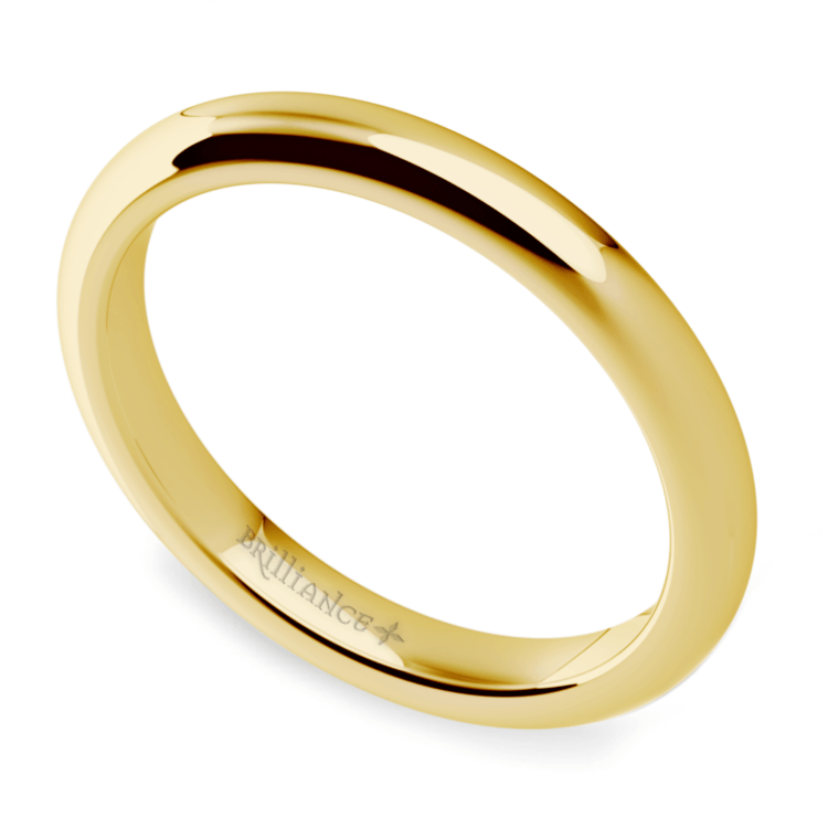 Comfort Fit Wedding Ring in Yellow Gold (2.5mm) | 01